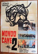 MANIFESTO ORIGINALE MONDO CANE 2 63 PROSPERO JACOPETTI DOCUMENTARIO