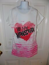 Monster High Be my Monster T-shirt Size XL (14/16) Girl's NEW FREE USA SHIPPING