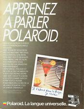 Publicité Advertising 028  1985   Polaroid  appareil photo SLR 680