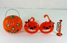 Assortment of Vintage Plastic Halloween Decoration and Favors