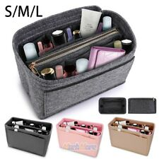 Multi Pocket Handbag Organizer Felt Purse Insert Bag fits Neverfull MM 4 Colors