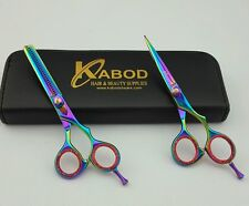 "Professional Hair cutting Shears 5.5""  Titanium coated And Thinning Set"