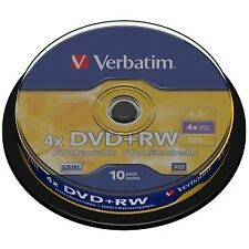 Verbatim 43488 - DVD RW 10pcs 4.7gb 4x Spindle