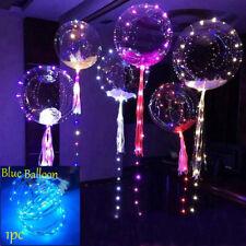 LED Light Balloons Transparent Balloon Wedding Birthday Xmas Party Lights Decor Blue