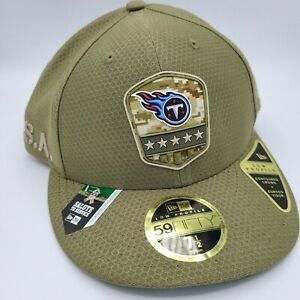 Tennessee Titans Hat New Era 59Fifty LP Fitted Cap 7-1/2 Salute Service Military