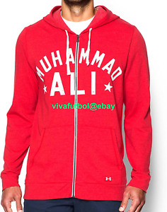 NEW Under Armour Mens UA x Muhammad Ali Collection Full-Zip Red Hoodie MEDIUM M