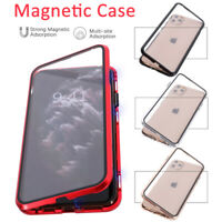 Magnetic Absorption Case For iPhone 11 Pro Max Double Sided Tempered Glass Cover
