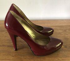 Nine West Burgundy High Heels Size 7W Smart