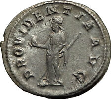 GORDIAN III 238AD Genuine Original Ancient Silver Roman Coin Providentia i65448