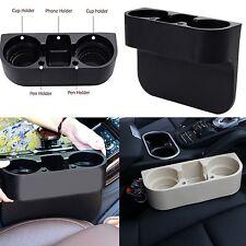Universal Car Seat Seam Wedge 2 Cup Drink Holder Auto Truck Mount Stand Storage