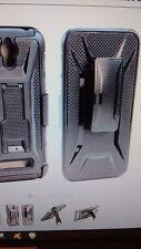 """For Asus Zenfone 2E 5.0"""" Belt Clip Case Black / Black Holster Hybrid P"""
