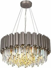 Raindrop Crystal Chandelier Light MEELIGHTING Nickel Luxury Modern 22in NEW SALE