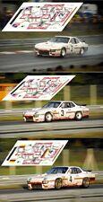 Calcas Porsche 924 GT Le Mans 1980 2 3 4  1:32 1:24 1:43 1:18 slot decals