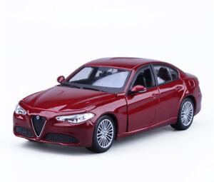 1:24 Scale Bburago Diecast Alloy Sports Car Model Boys Toy For ALFA Romeo GIULIA
