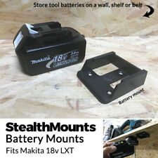 5x BLACK Battery Mounts for Makita 18v LXT Li Ion Batteries Holders Wall Hanger