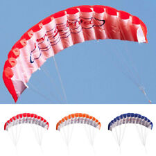 Dual Line Stunt Parafoil Parachute Rainbow Sports Beach Kite Toys Kites Set Kids