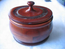 "Wood Bowl & Lid / Laminated Wood / Handmade on Lathe 4 3/4"" diameter"