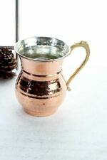Traditional Turkish Handmade 2 copper Mug set Moscow MuleTinned inside