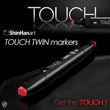 ShinHan Art TOUCH TWIN Markers Color 204 Hot Colors Twin tips (Choose Colors)