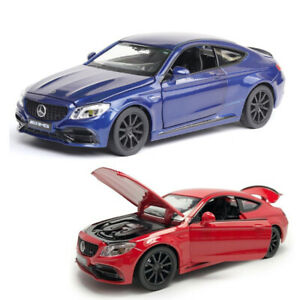 1/32 Scale Mercedes Benz AMG C63S Die-scast Car Model Toy Sound&Light Collection