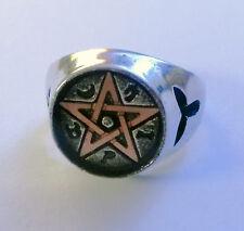 Alchemy Gothic Anello Suntec talismano Pentagram Dimensioni: W (24/64)
