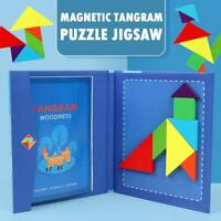 Magnetic Tangram Puzzle Jigsaw Montessori Educational Cognitive Toy Kid Gift UK