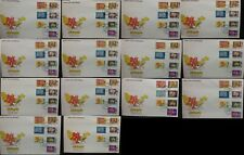 Malaysia 1979 Flowers Orchids FDC All 14 Sets First Day Cover