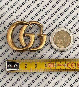 GUCCI FIBBIA DOPPIA G PICCOLA ORO LITTLE BUCKLE GUCCI GOLD UNISEX