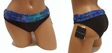 NEW Bikini Bottom S 6 Black La Blanca Banded Small Blue Green 1250