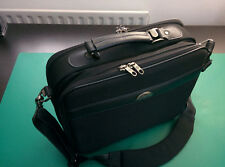 "Samsonite 13"" Laptop Briefcase - Black with Smoke Chrome Metal Accents"