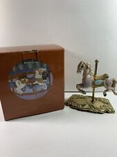 Rare Vintage The American Carousel by Tobin Fraley Indian Horse musical box