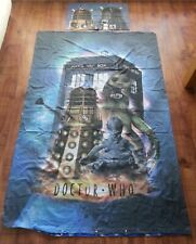 Doctor Who Single Duvet Cover Daleks TARDIS Pillowcase Face Mask Material