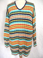 Gestreifte Damen-Pullover & -Strickware aus Baumwolle in Langgröße