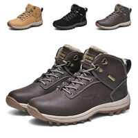 Men's Snow Boots Hiking Shoes Casual Waterproof Ankle Walking Shoes Winter Warm