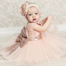 Flower Girl Bow Princess Dress Baby Kids Party Wedding Bridesmaid Formal Dresses