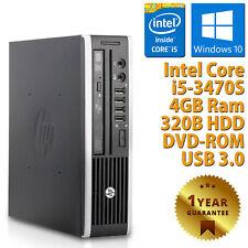 PC MINI COMPUTER DESKTOP RICONDIZIONATO HP QUAD CORE i5-3470S 4GB 320GB WIN 10