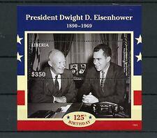 Liberia 2015 MNH President Dwight Eisenhower 125th Birthday 1v S/S Richard Nixon