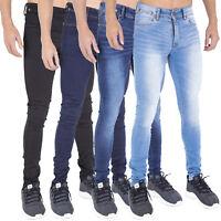 Mens Spray On Skin Tight Skinny Stretch Denim Jeans **NEW EXTRA STRETCH FABRIC**