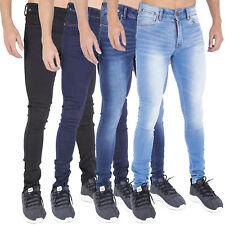 Mens Spray On Skin Tight Skinny Stretch Denim Jeans **NEW EXTRA STRETCH FABRIC**