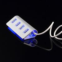 Eg _ Lk _ Hk- Alluminio USB 2.0 LED 4 Porte Hub Adattatore Splitter con Cavo per