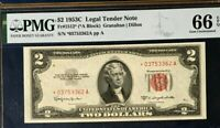 1953C $2 US LEGAL TENDER *STAR* NOTE, RED SEAL, PMG 66 EPQ GEM UNCIRCULATED