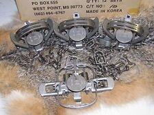 4  Duke #1 Coil Spring double jaw Traps Raccoon Mink Nutria Muskrat NEW SALE