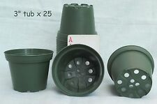 "3"" round plastic tub azalea plastic green flowerpots set of 25 TO 8D free ship"