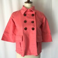 Old Navy Kids Girls Coral Sweater Cardigan cover up button front jacket size XL