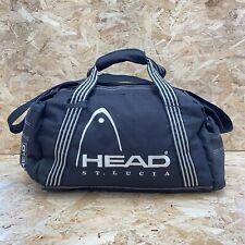 Vintage 90's Head St Lucia Blac Retro Small Holdall Sports Gym Travel Bag Rare