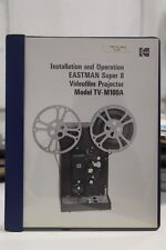 Eastman Super 8 Videofilm Projector TV-M100A Installation Manual Schematic Dia.