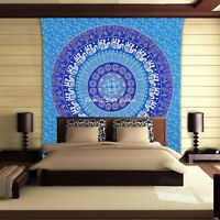 Elephant Mandala Wall Hanging Tapestry Indian Hippie Bohemian Queen Size Throw
