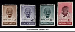 INDIA 1948 1st Anniversary of INDEPENDENCE / MAHATMA GANDHI SG#305-308 4V MH