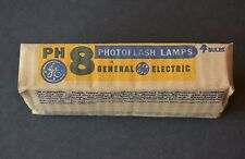 GENERAL ELECTRIC GE PH8 Flashbulbs Sleeve of 4 Bulbs Vintage Photography NOS