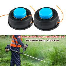 2x Universal Replacement Lock String Brush Cutter Garden Grass Trimmer Head